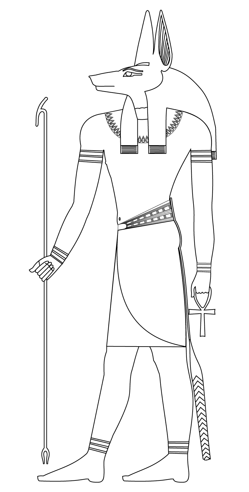 Free Egypt coloring page to download