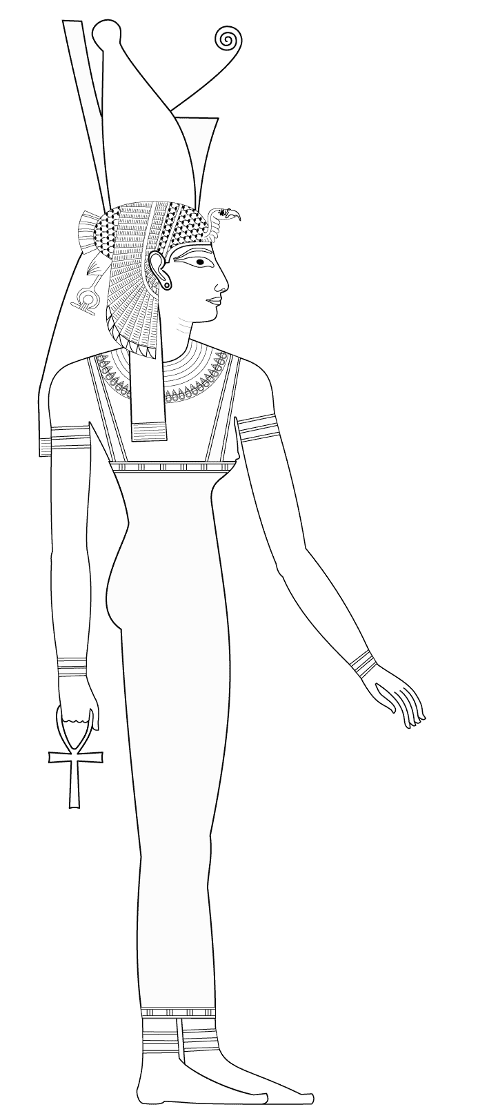 Simple Egypt coloring page for kids