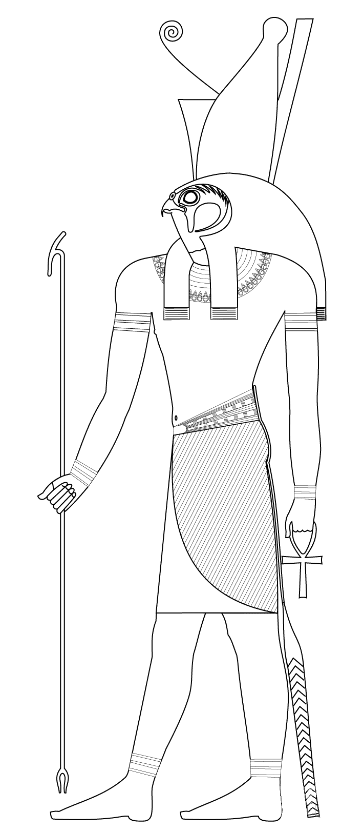 Egyptian Drawing Coloring Page - Free Egypt Coloring Pages ...   1620x709