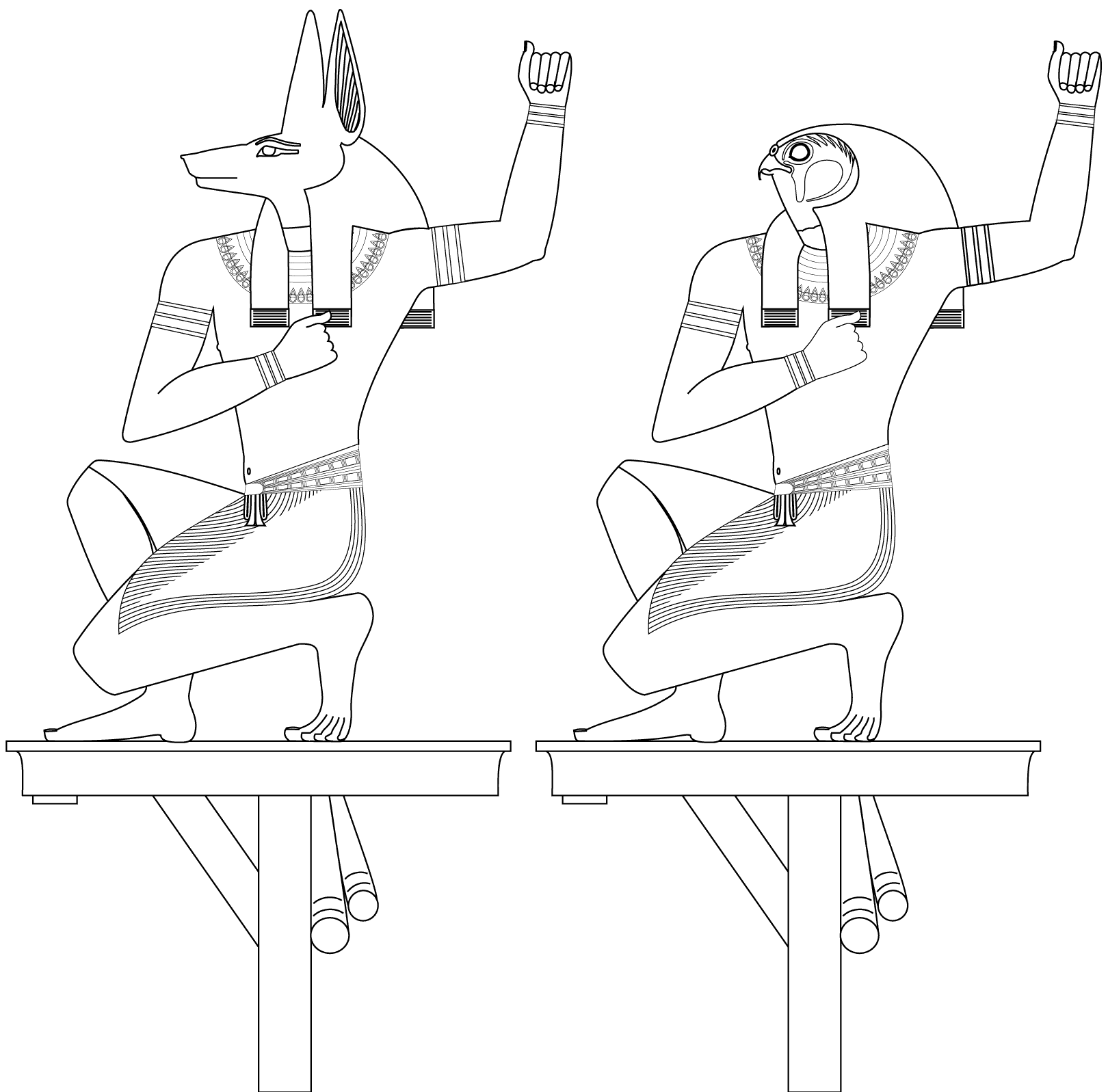 Beautiful Egypt coloring page to print and color