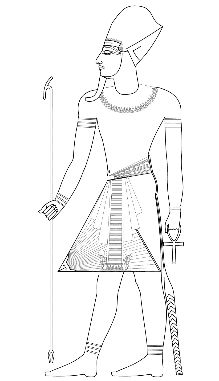 Egypt to color for children Egypt Coloring pages for kids