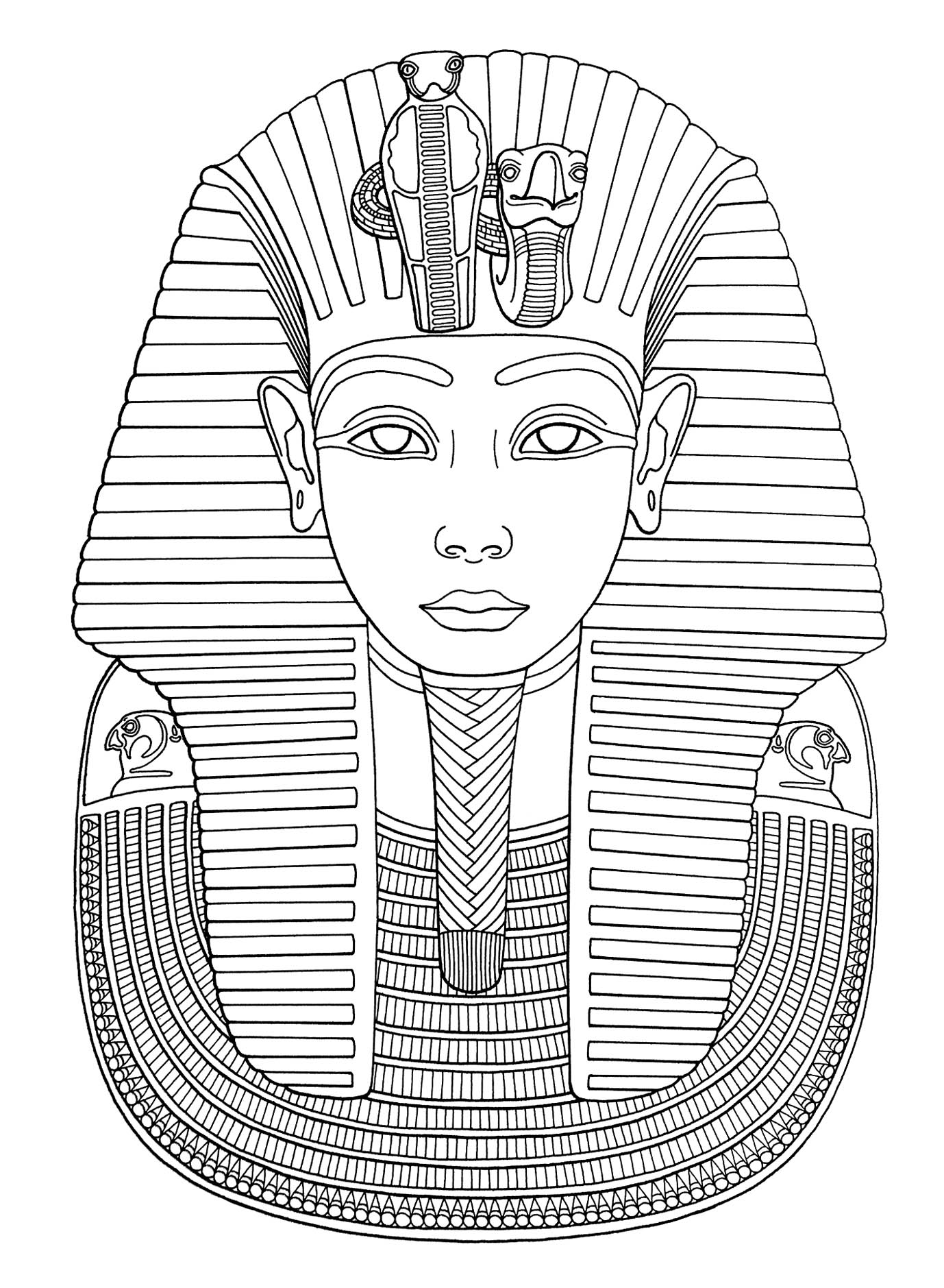 Funny Egypt coloring page for kids