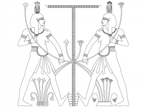 Coloring page egypt to print