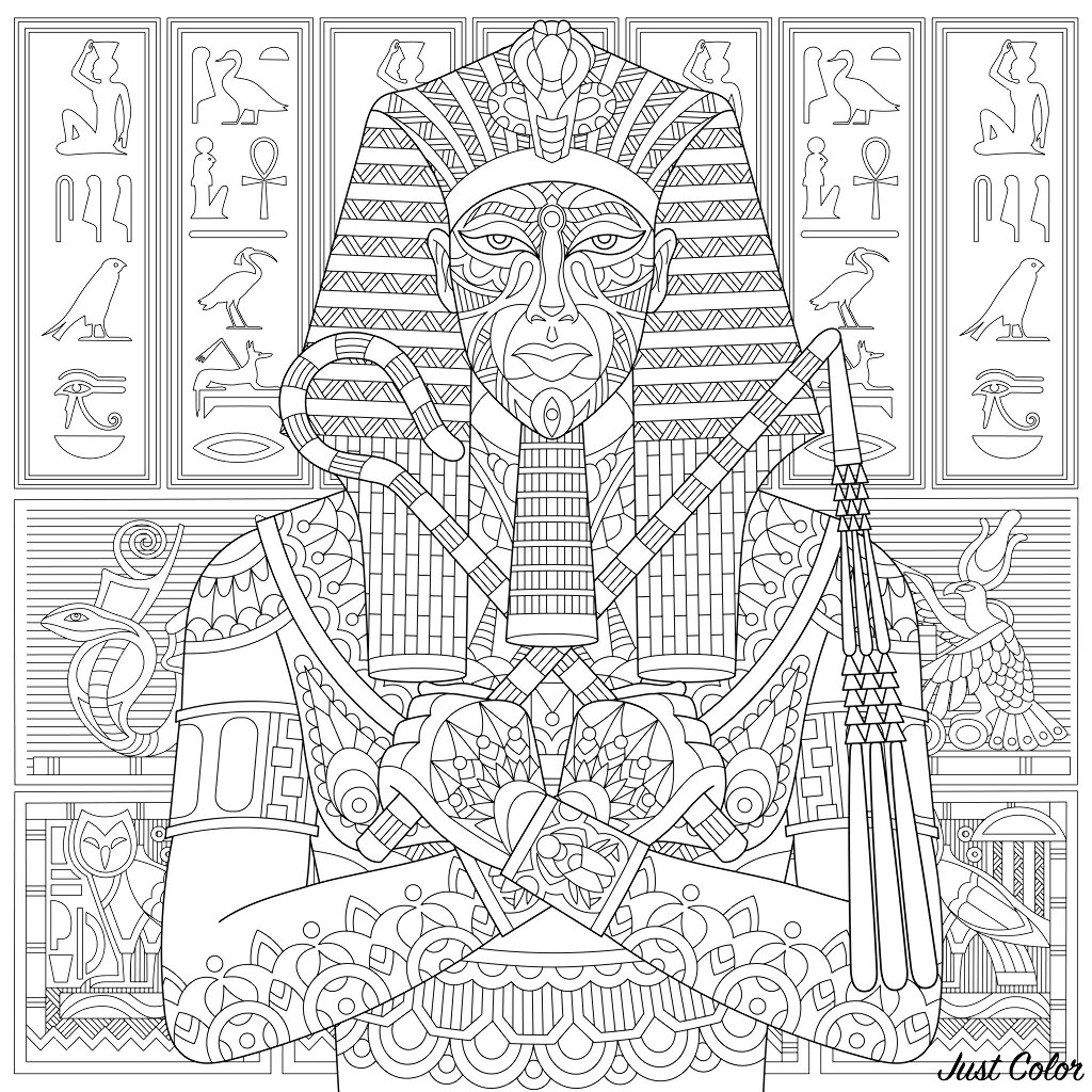 Simple Egypt coloring page to print and color for free