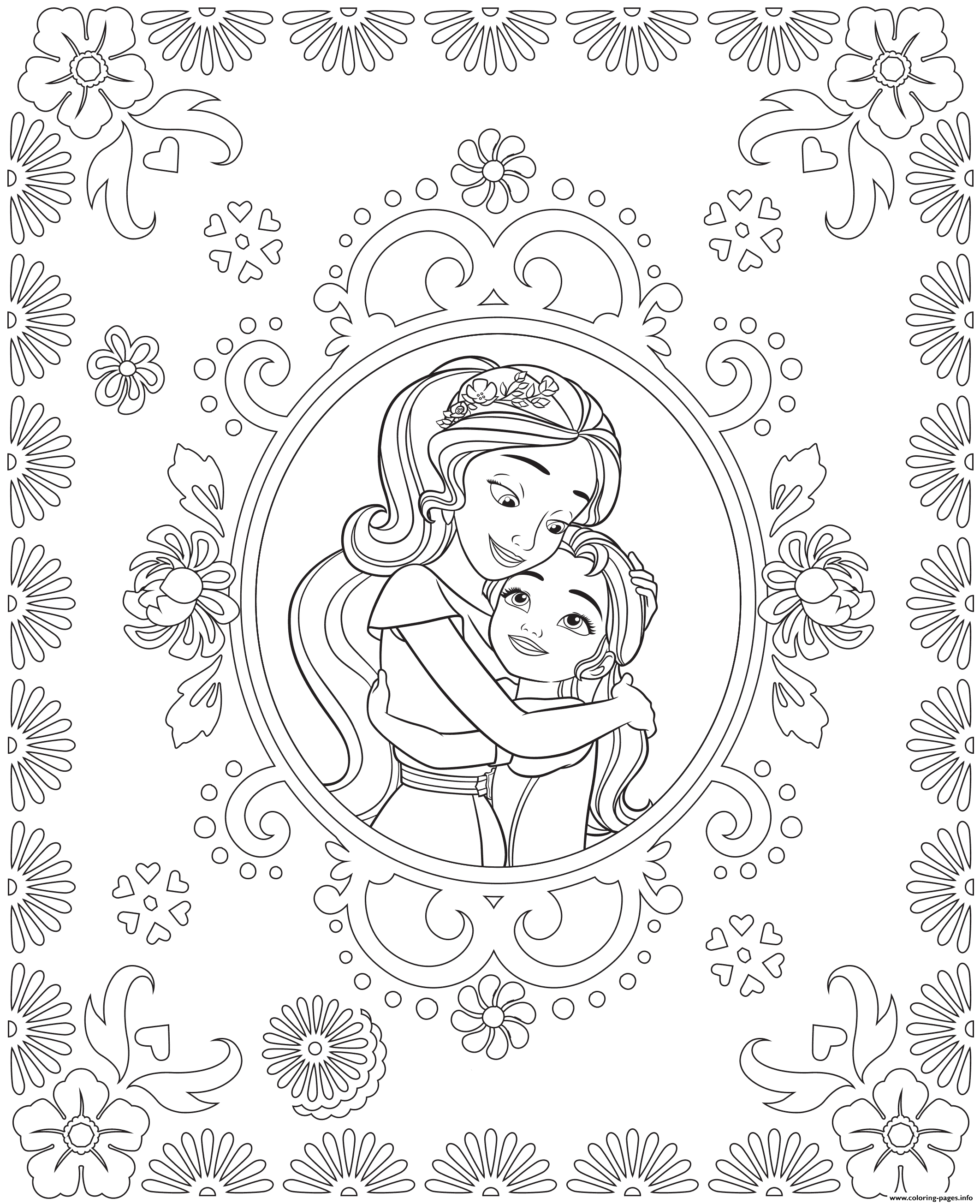 Incredible Elena Avalor coloring page to print and color for free