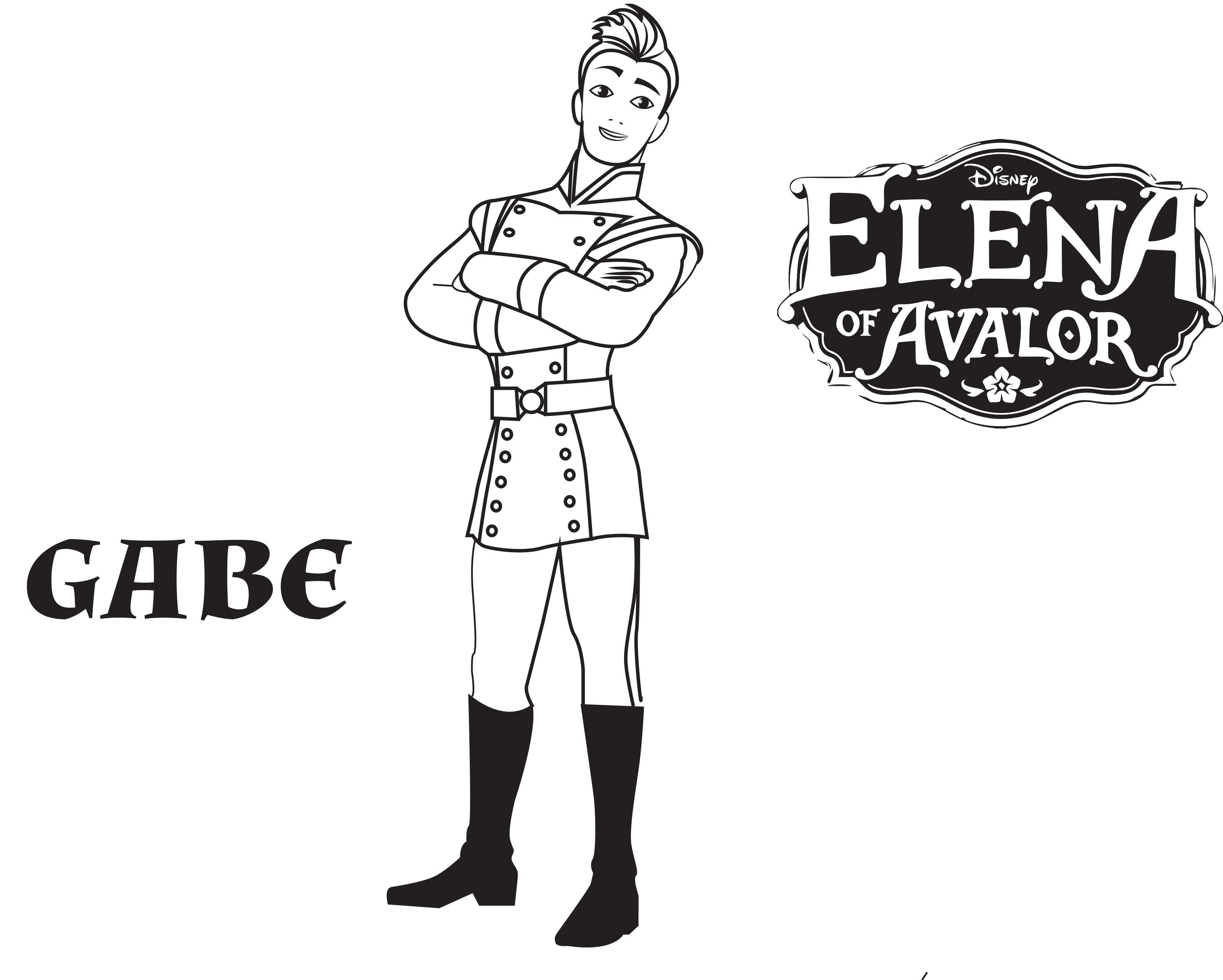 Simple Elena Avalor coloring page for kids