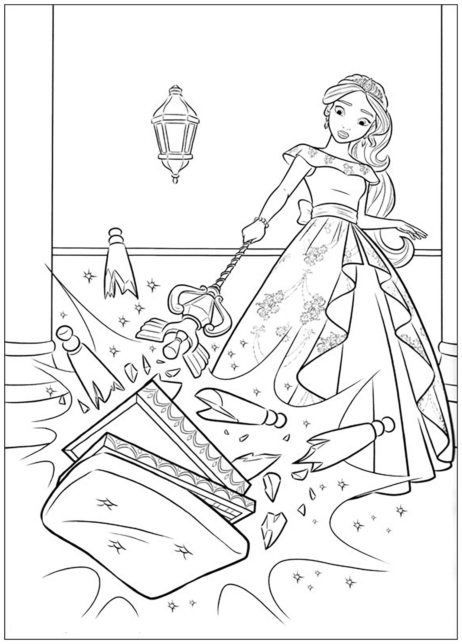 Elena avalor free to color for