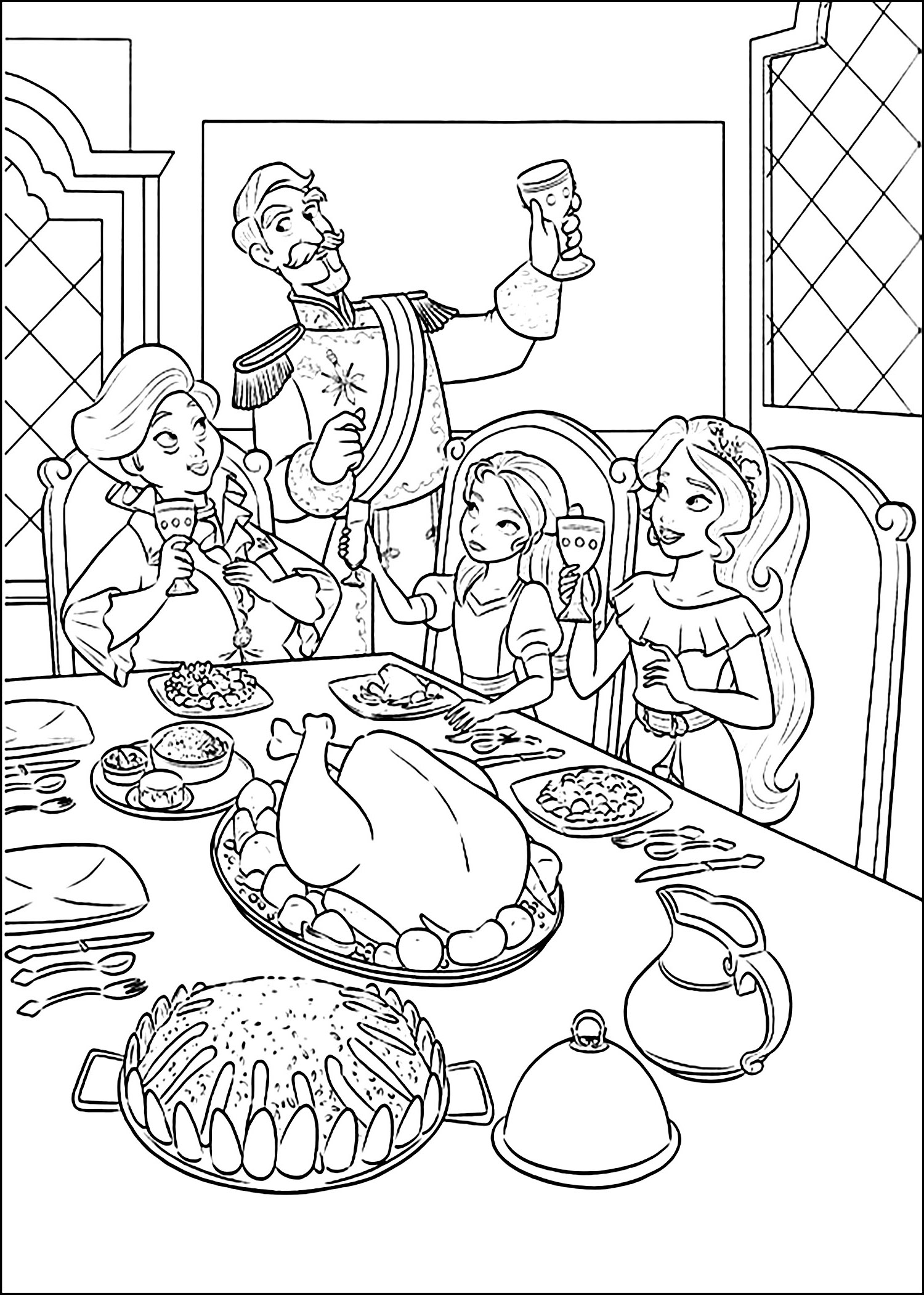 Elena Avalor coloring page to print and color for free