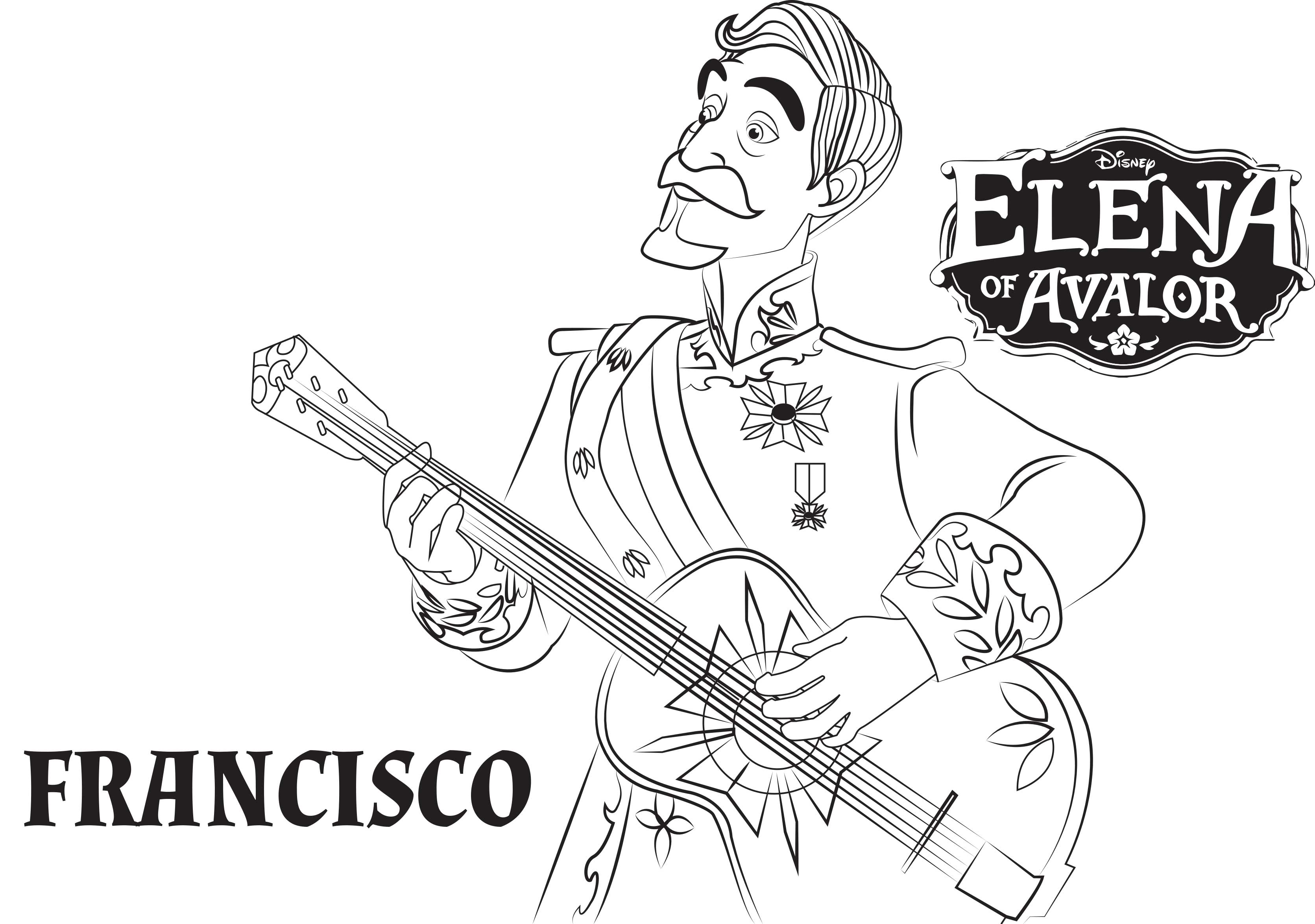 Free Elena Avalor Coloring Page To Download