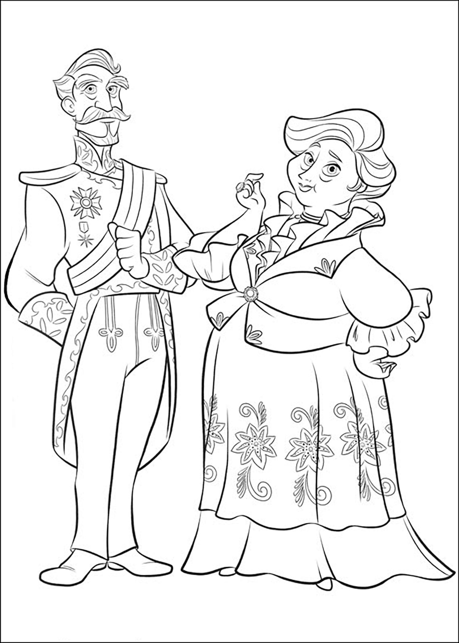 Beautiful Elena Avalor coloring page
