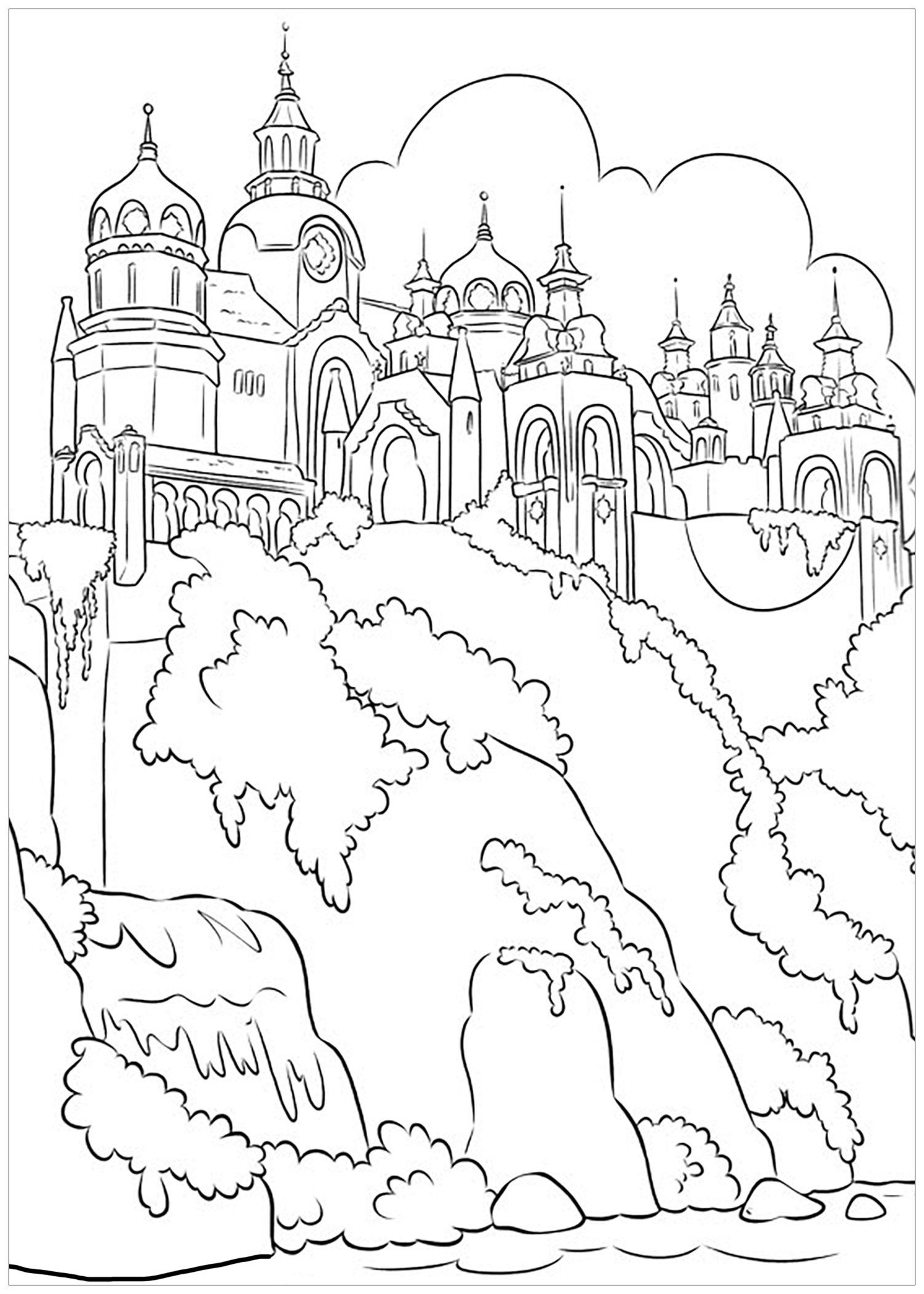 Beautiful Elena Avalor coloring page to print and color