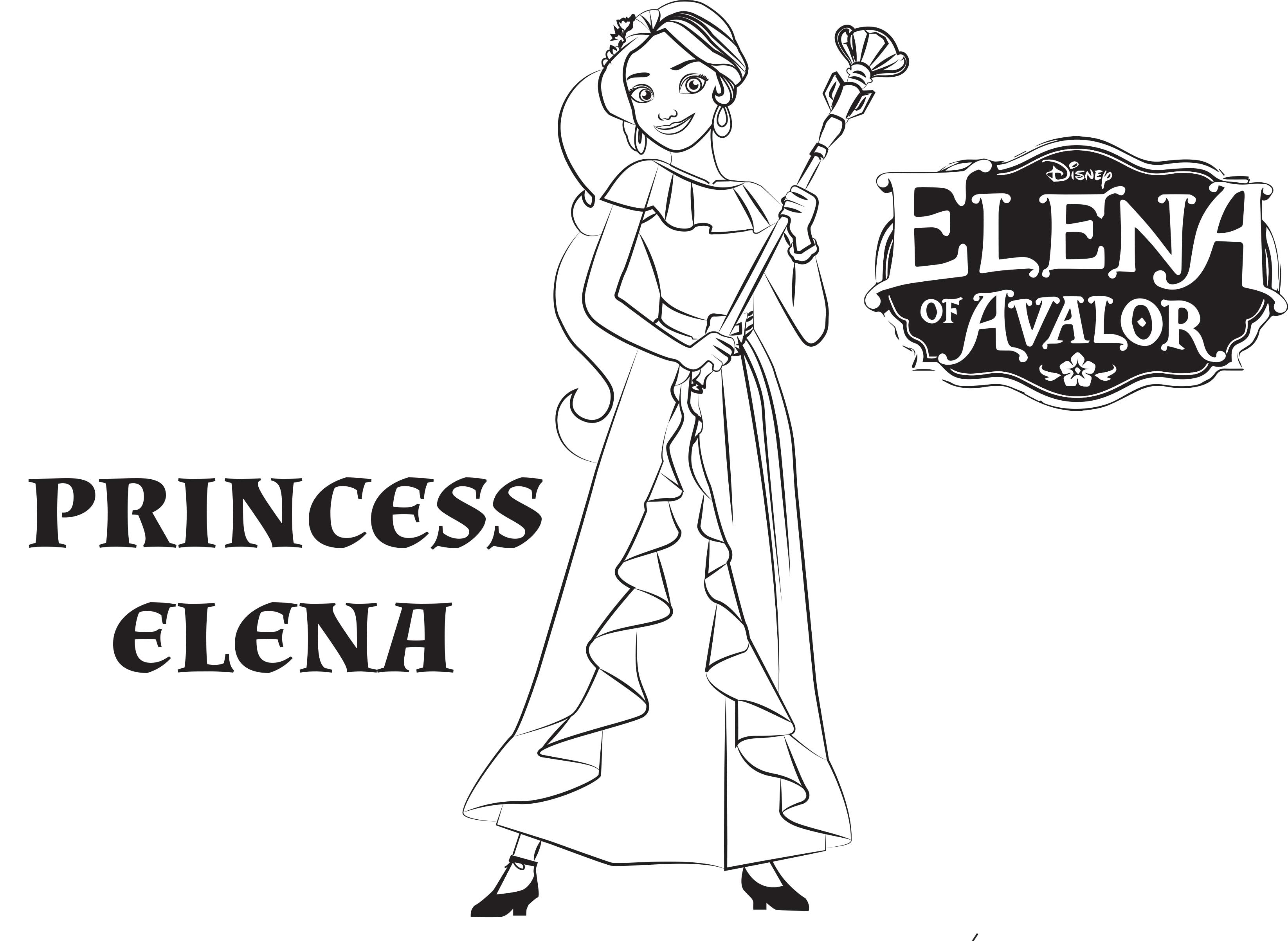 Elena Avalor coloring page to download for free