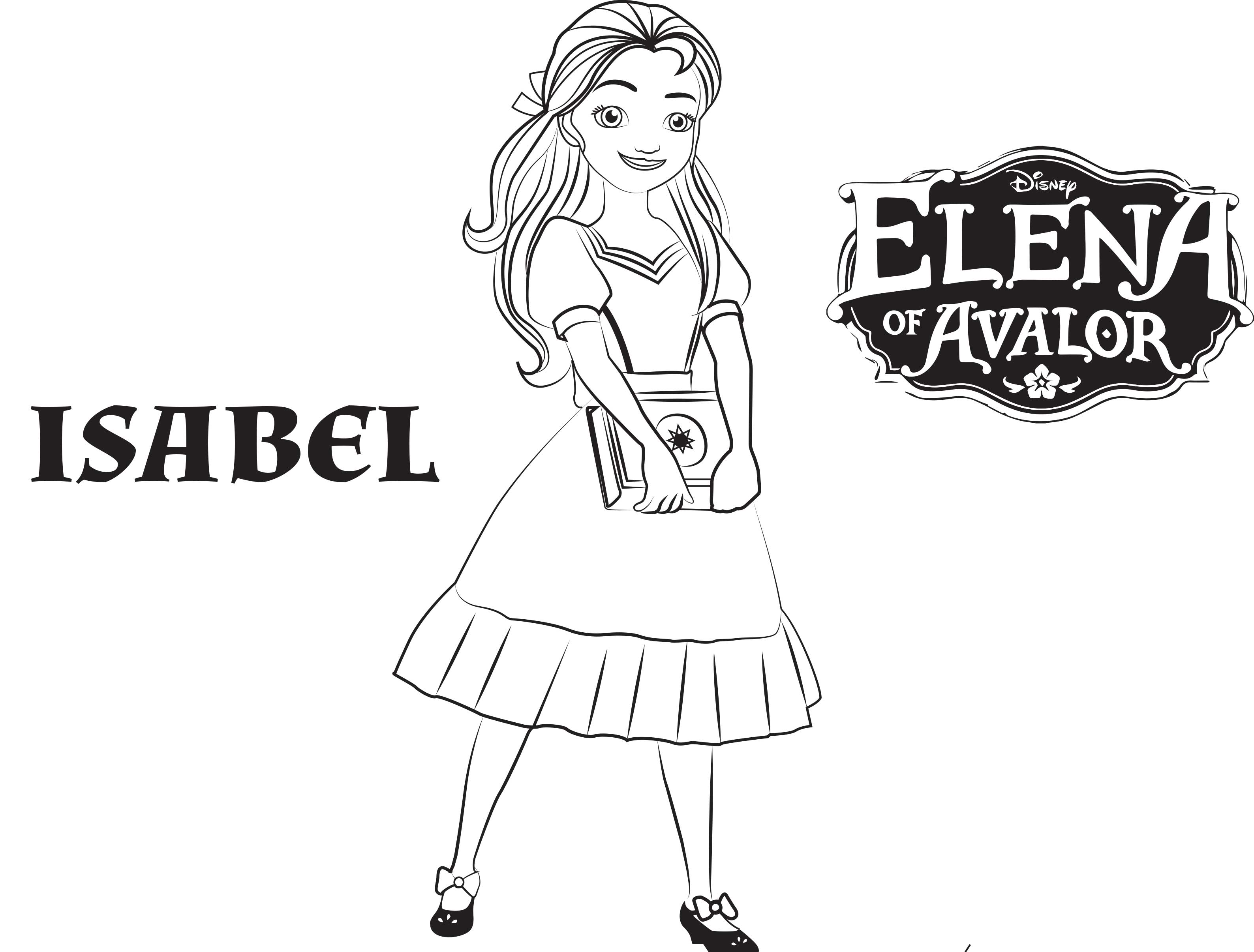 picture about Elena of Avalor Coloring Pages Printable referred to as Elena avalor in direction of coloration for youngsters - Elena Avalor Little ones