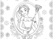 Elena Avalor Coloring Pages for Kids