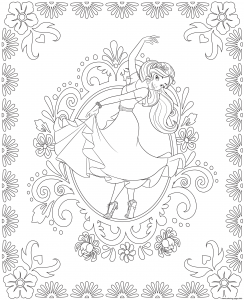 Coloring page elena avalor free to color for children