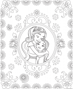 Coloring page elena avalor to color for kids