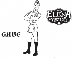 Coloring page elena avalor to download for free