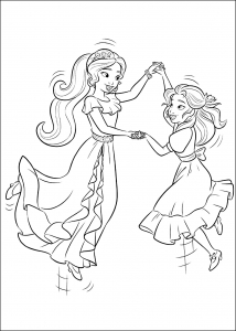 Coloring page elena avalor for children