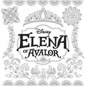 Coloring page elena avalor to color for children
