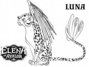 Coloring page elena avalor to print
