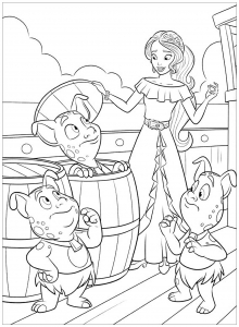 Coloring page elena avalor free to color for kids