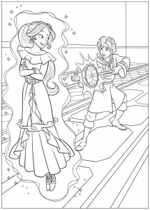 Coloring page elena avalor to print for free