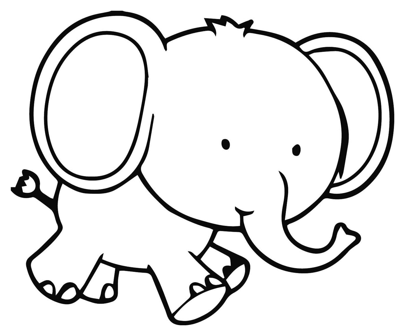 Elephants for children - Elephants Kids Coloring Pages