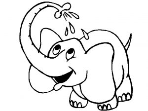 Coloring page elephants to download for free