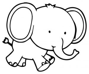 Coloring page elephants for children