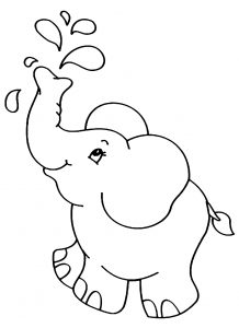 Elephants - Free printable Coloring pages for kids