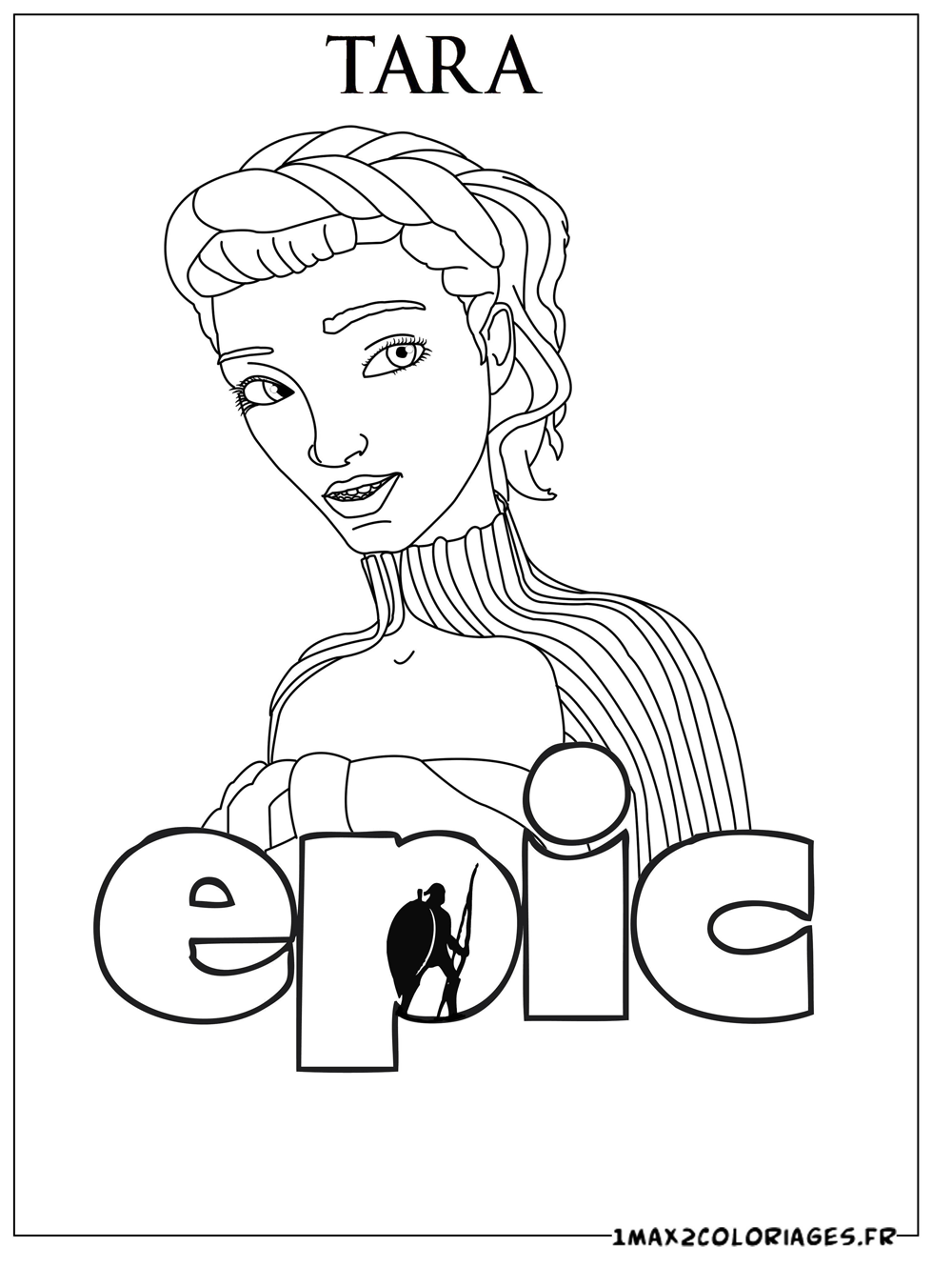 Easy Free Epic Coloring Page To Download