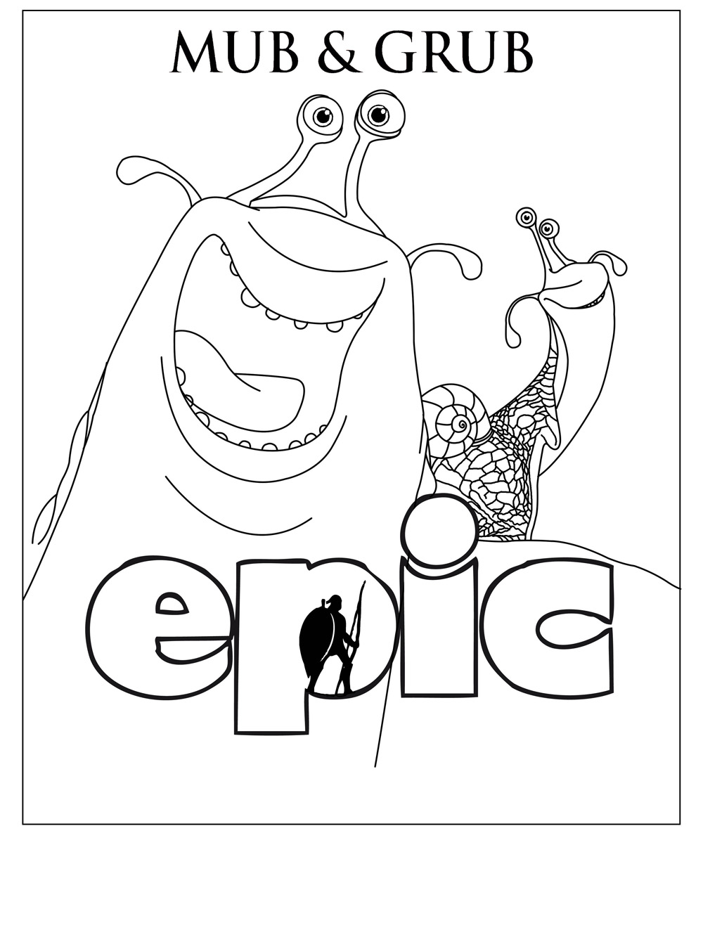Epic coloring page to print and color for free
