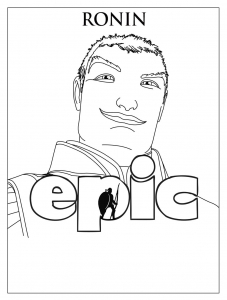 Coloring page epic to color for children