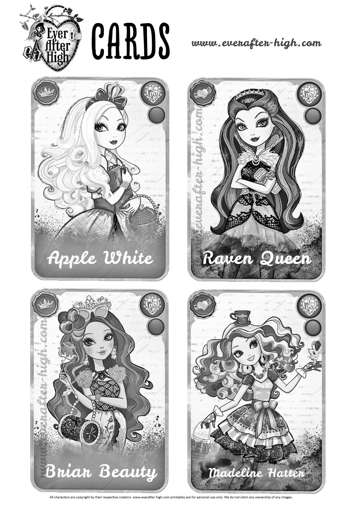 Surprising Design Ever After High Free Coloring Pages Collection Of