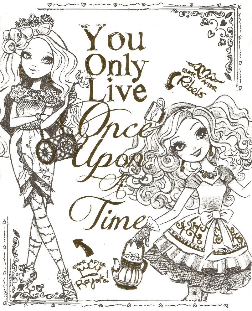Ever After High For Children Ever After High Kids Coloring