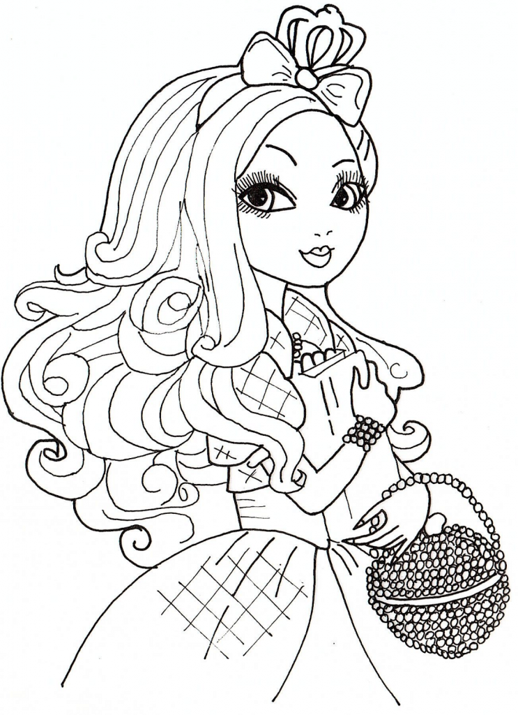 Free Ever After High Coloring Page To Download For Children