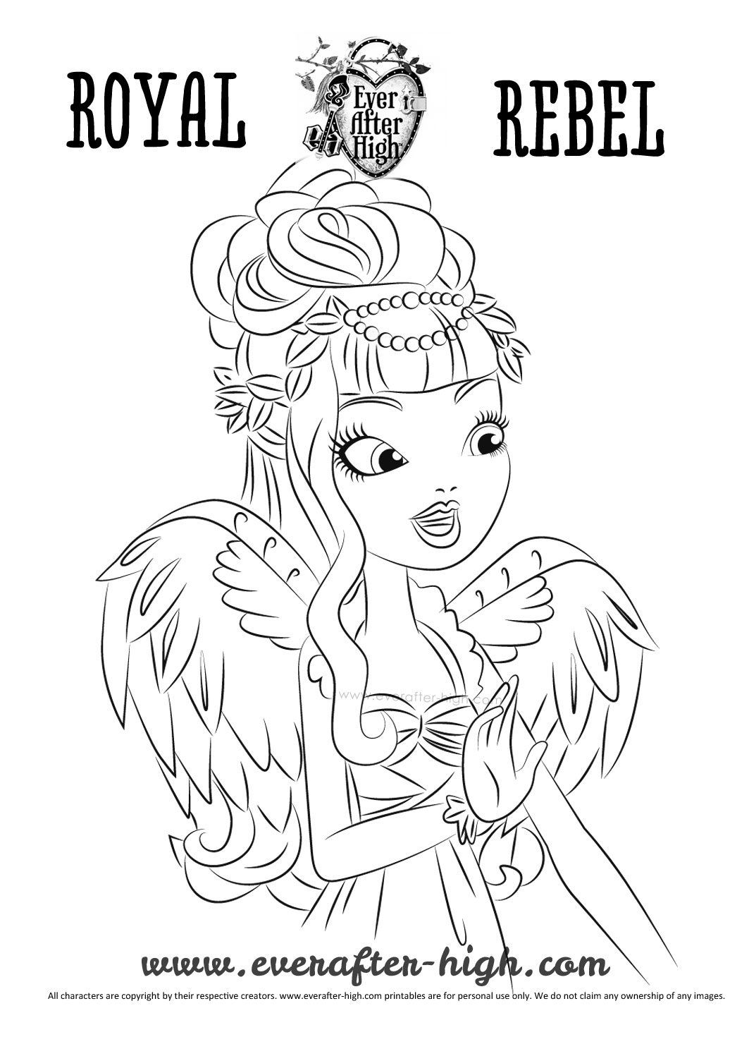 Funny Ever After High Coloring Page For Kids