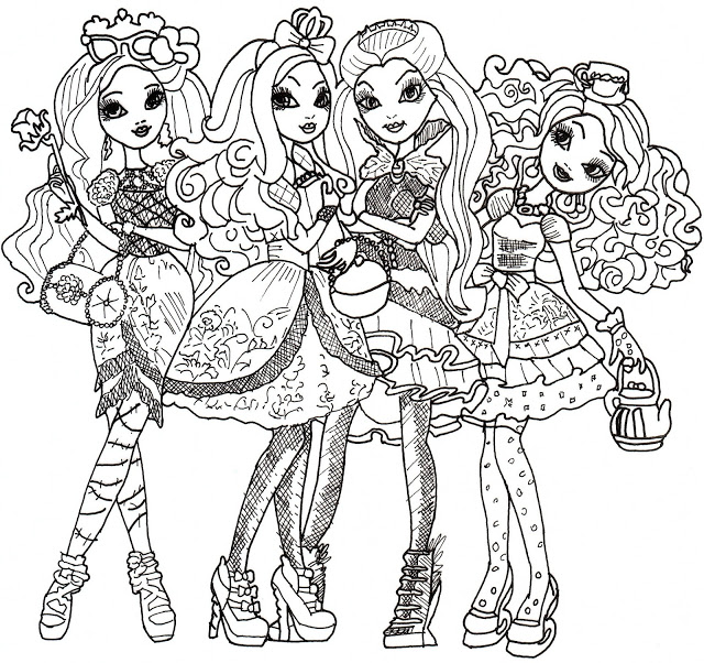 Funny Ever After High Coloring Page For Children