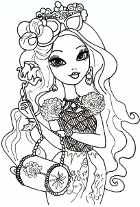 Coloring page ever after high to print for free