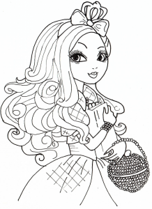 Coloring page ever after high to color for kids