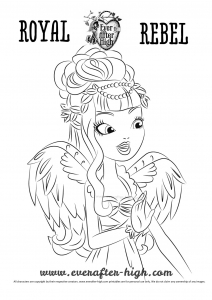 Coloring page ever after high for children