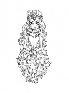 Coloring page ever after high to download for free