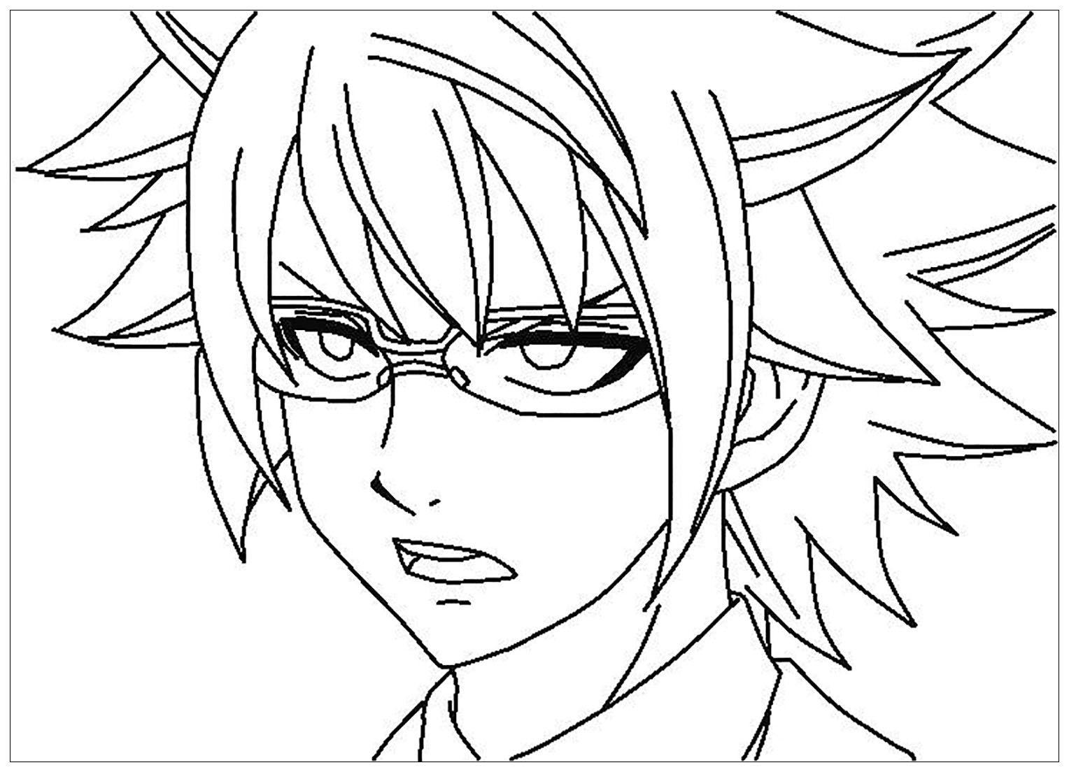 Funny Fairy tail coloring page