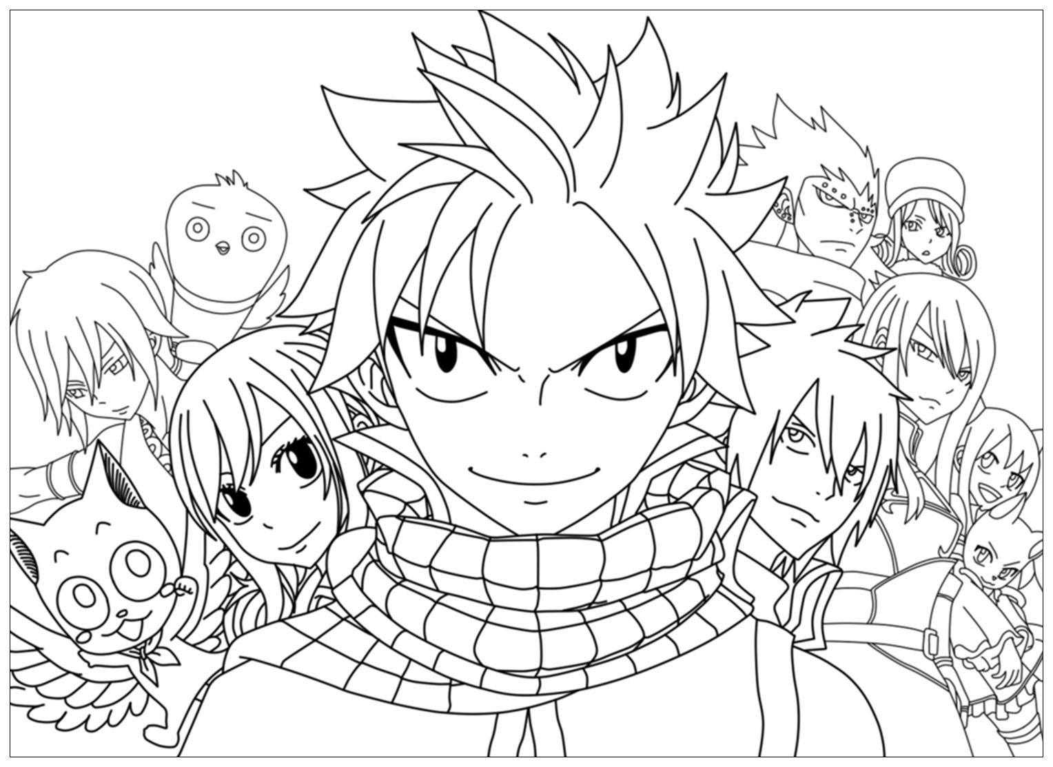 Free Fairy tail coloring page to print and color, for kids