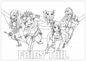 Coloring page fairy tail for children