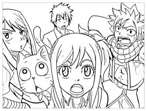 Coloring page fairy tail to download for free