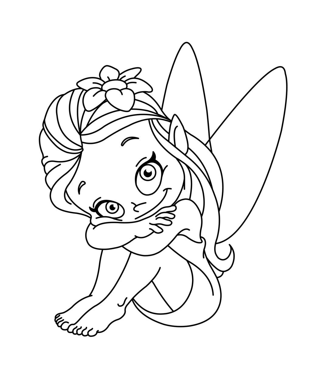 Fairy free to color for kids - Fairy Kids Coloring Pages