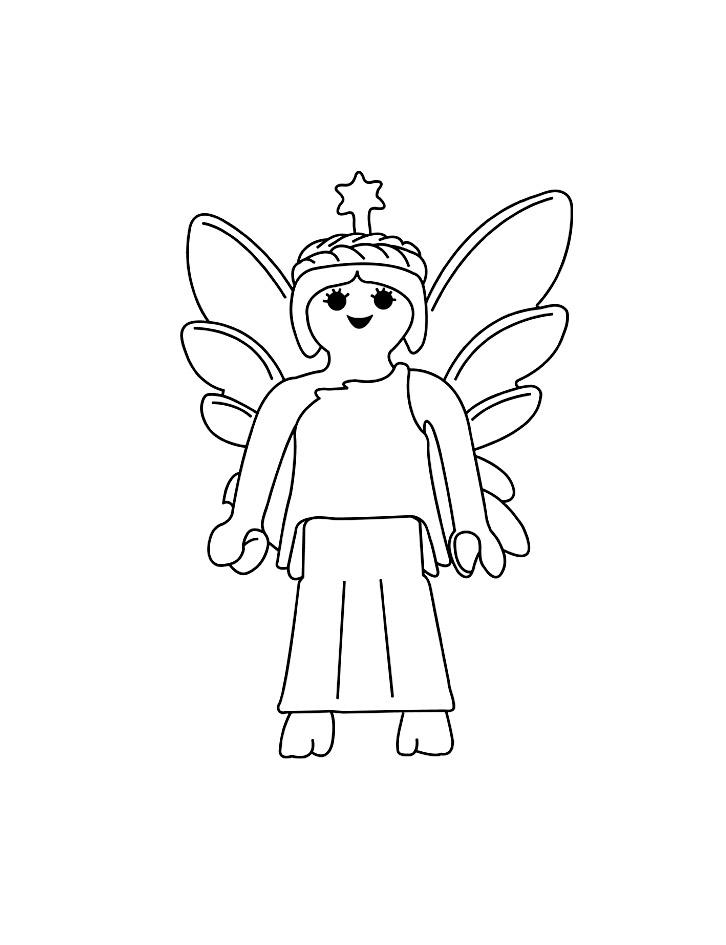 Beautiful Fairy coloring page to print and color