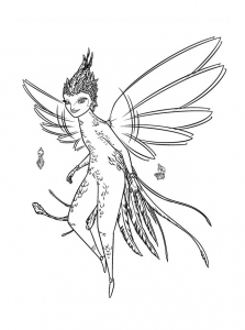 Coloring page fairy to print