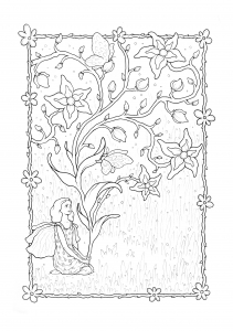 Coloring page fairy to color for children